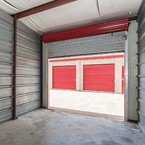 storage unit door opened