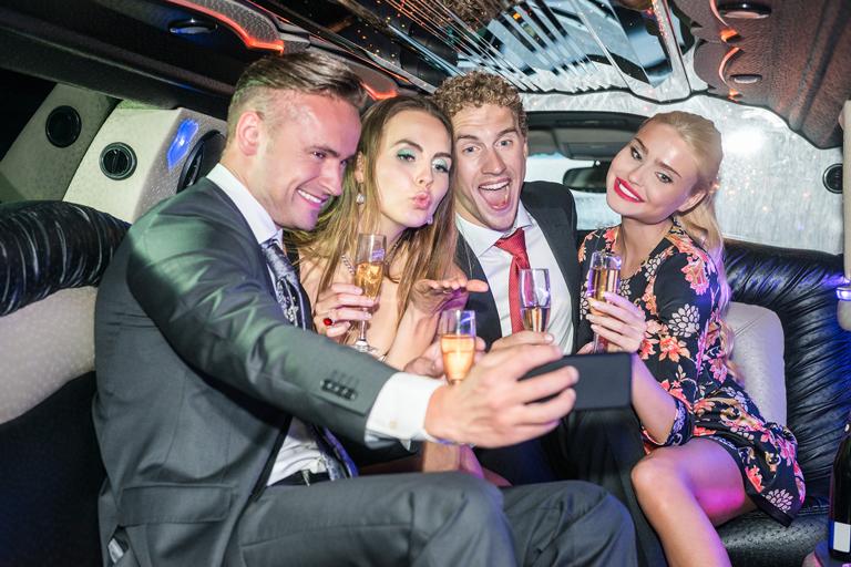 limousine group party