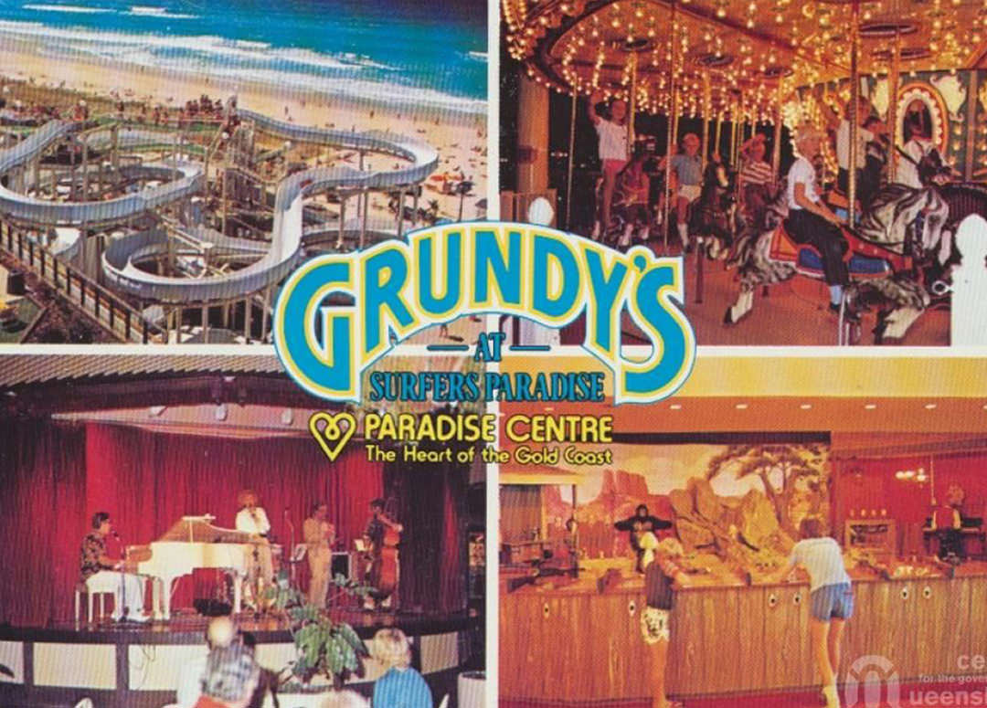 Old postcard from Grundy's at Surfers Paradise