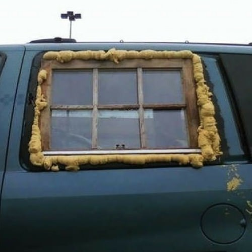 Car window repair fail