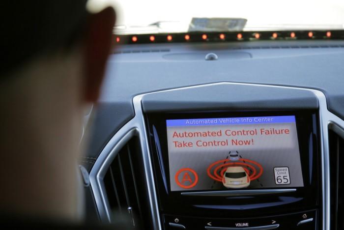 Self driving car error