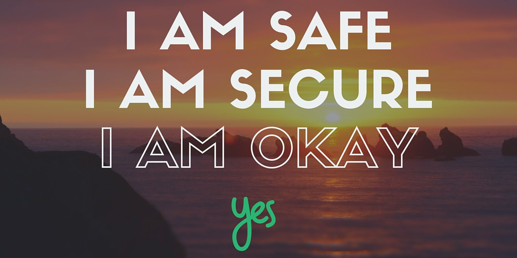 I AM SAFE Driver Anxiety Affirmation
