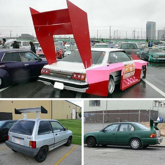 Huge car spoilers