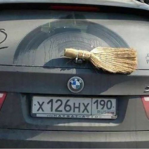 Broom used for windscreen wiper