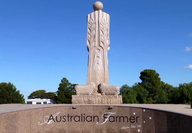 The Big Farmer statue in Wudinna, Australia