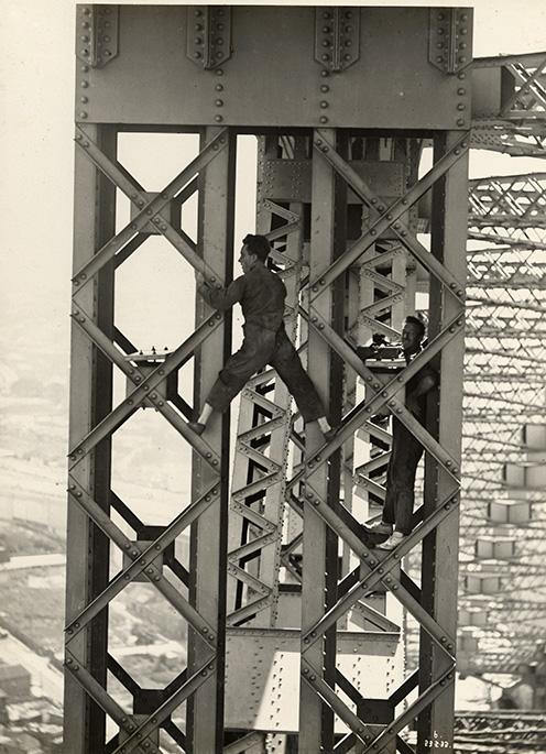 Sydney Harbour Bridge construction worker