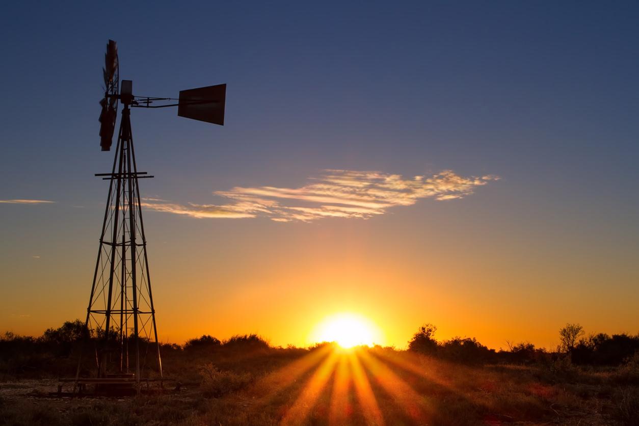 Sun rising in Australia