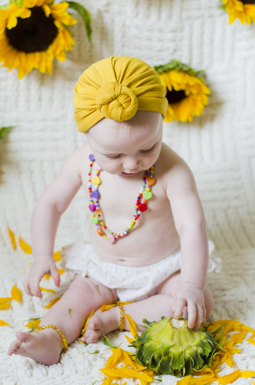 Knots And Crosses Yellow Turban