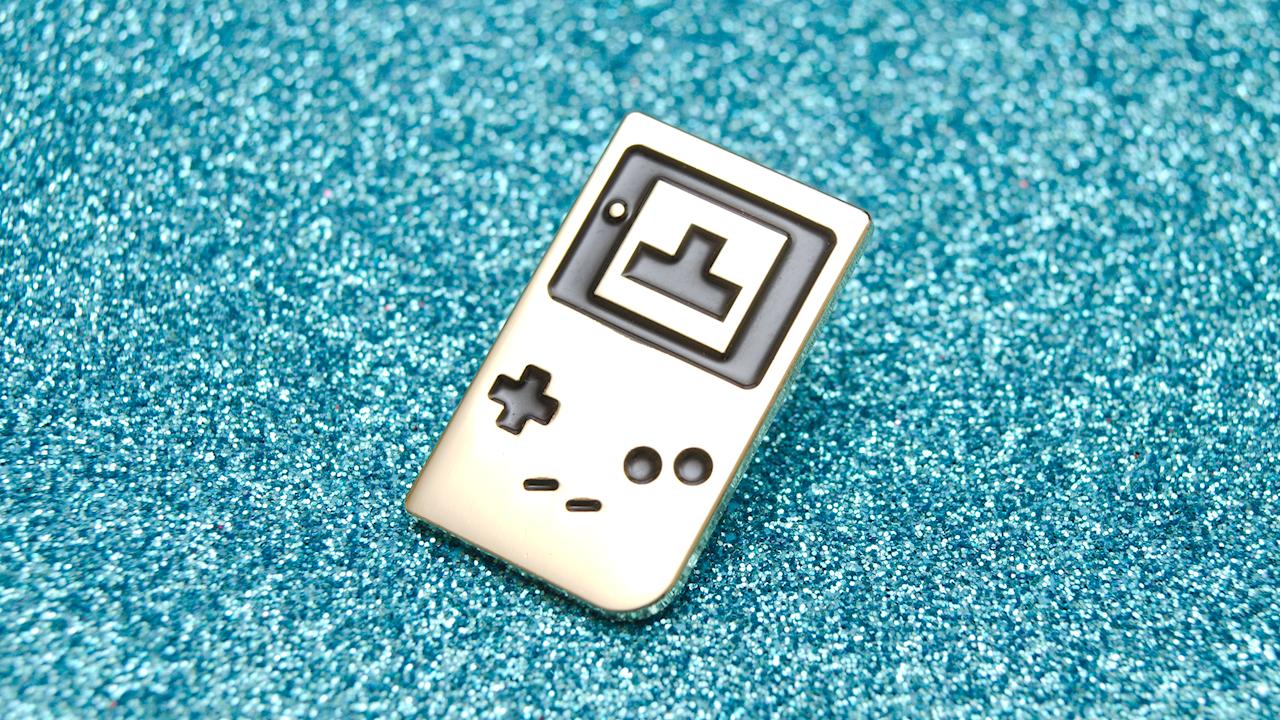 Power Up Pins enamel pin