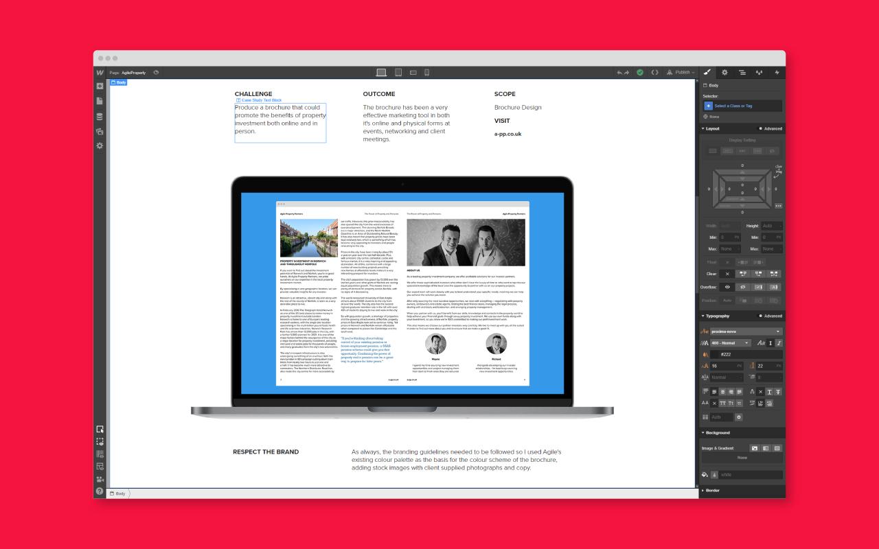 Andy Carolan Webflow UI