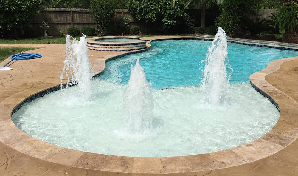 Majestic Custom Pools Fountain