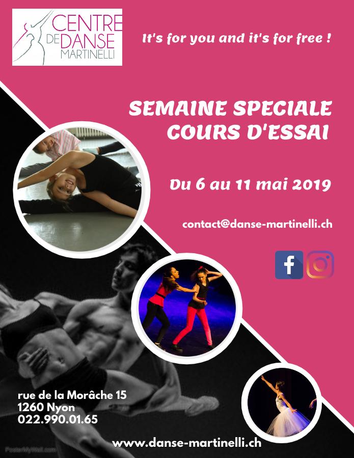 Semaine Spéciale Cours d'Essai