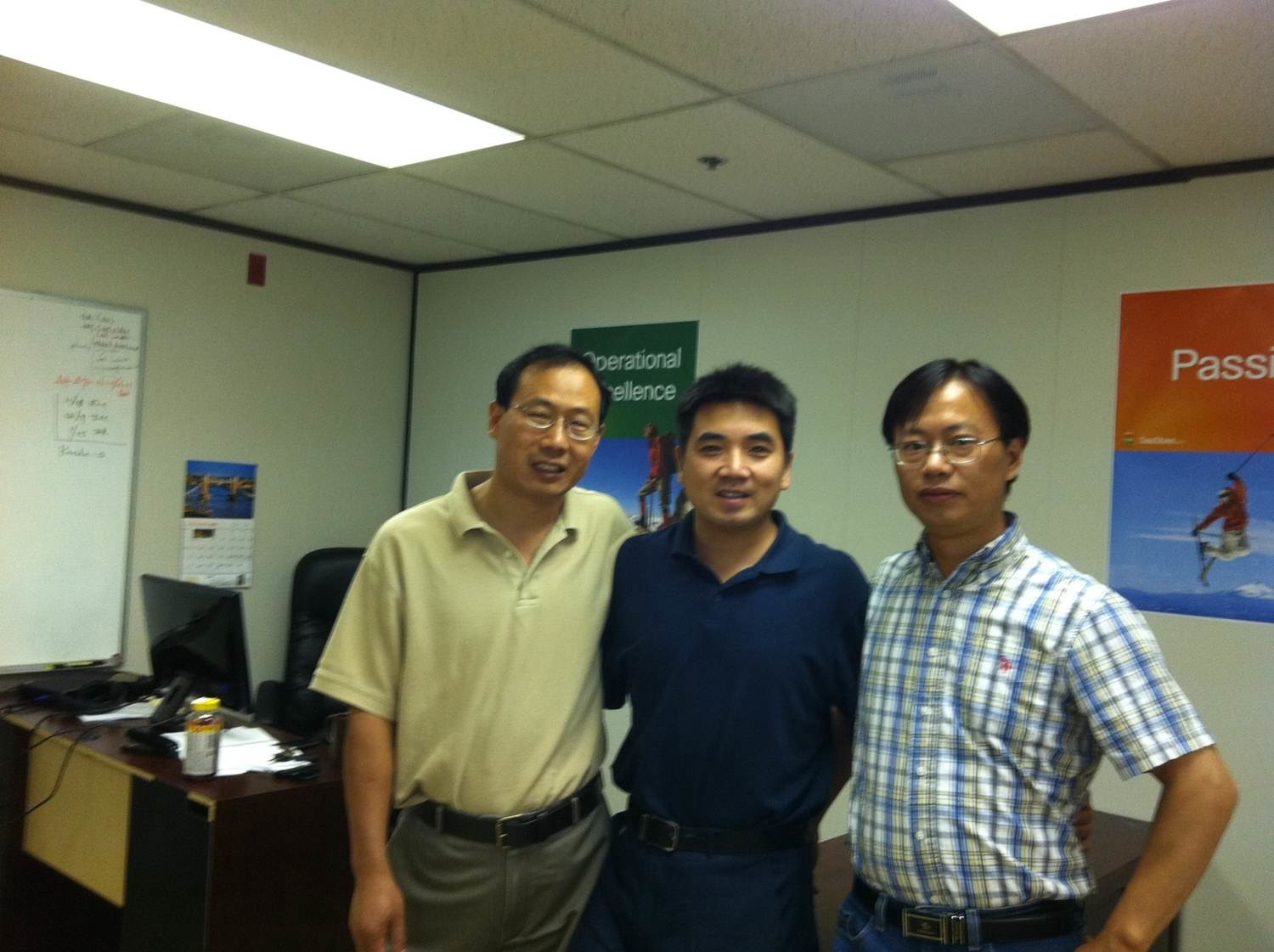 Saasbee first three team members in 2011 at their Santa Clara office