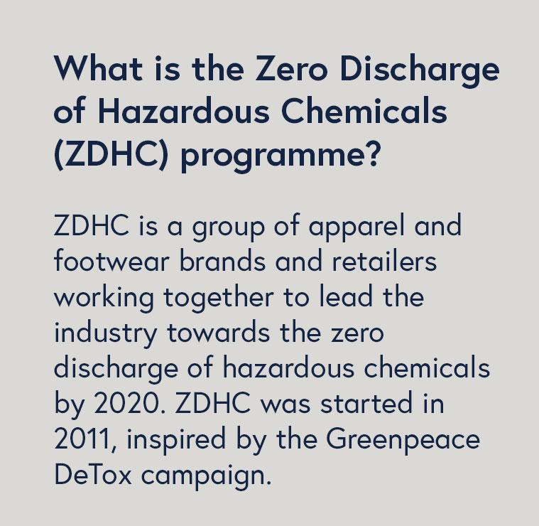 Information box about zero discharge of hazardous chemicals programme ZDHC