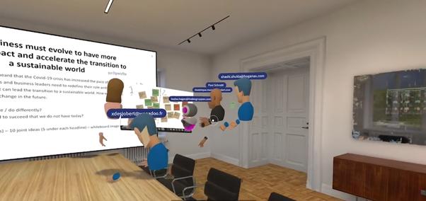 A virtual workshop during Lindéngruppen's Global Management Conference 2020