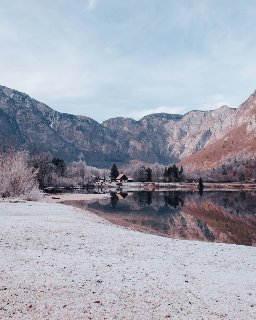 Frozen Bohinj lake