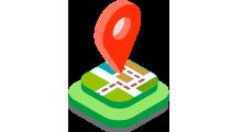 isometrico cuadrado mapa localizacion