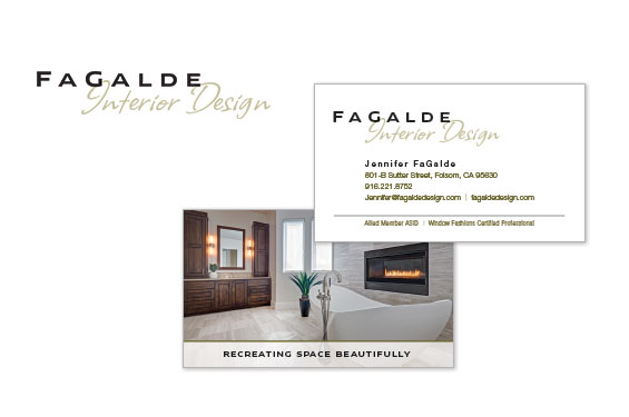 FaGalde Interior Design Logo and Business Card