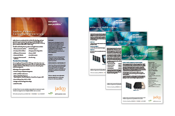 Jadoo Power Data Sheets