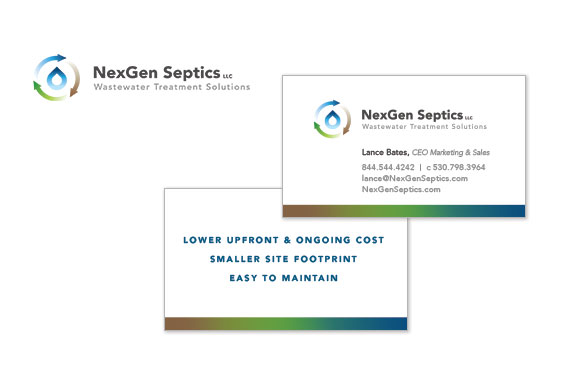 NexGen Septics Logo and Business Card