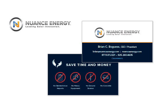 Nuance Energy Logo and Business Card Design