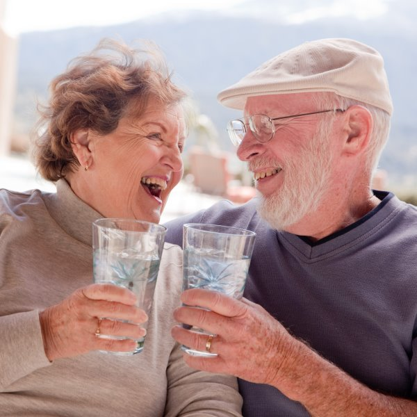 Seniors with healthy water
