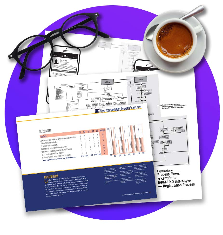 graphic of spreadsheet with coffee cup