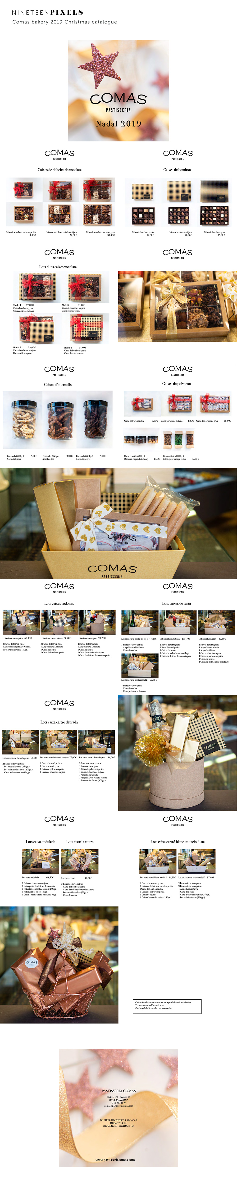Comas bakery  2019 Christmas catalogue