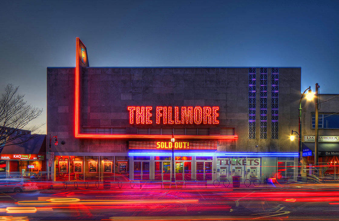The front of The Fillmore in downtown Silver Spring, MD