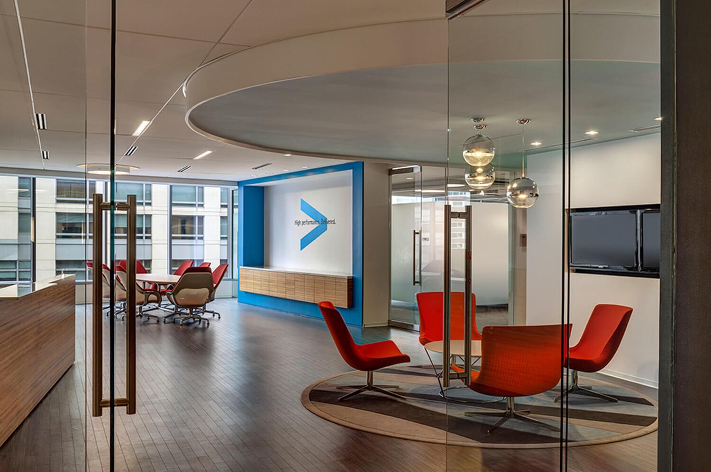 Entrance to Accenture at 800 North Glebe Road in Arlington, Virginia