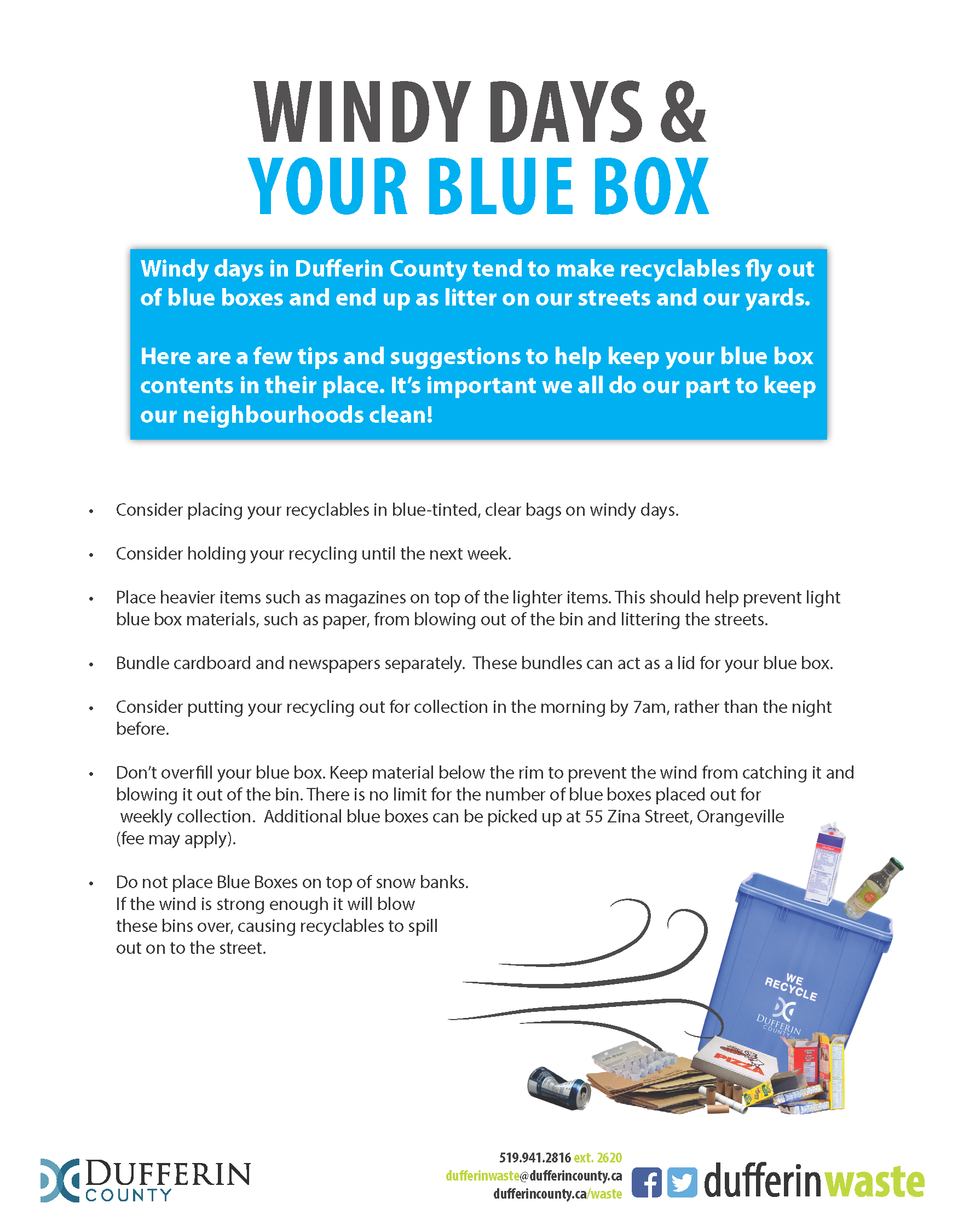 Windy Days and Your Blue Box Flyer