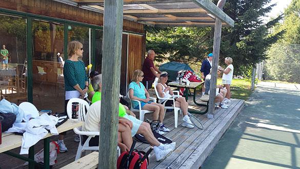 Observers at the Mono Tennis Club