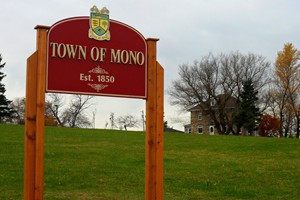 Town of Mono Sign