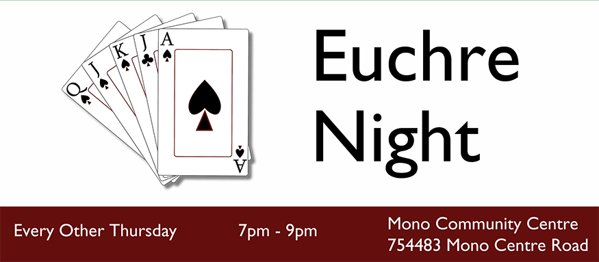 Euchre Night Every Other Thursday