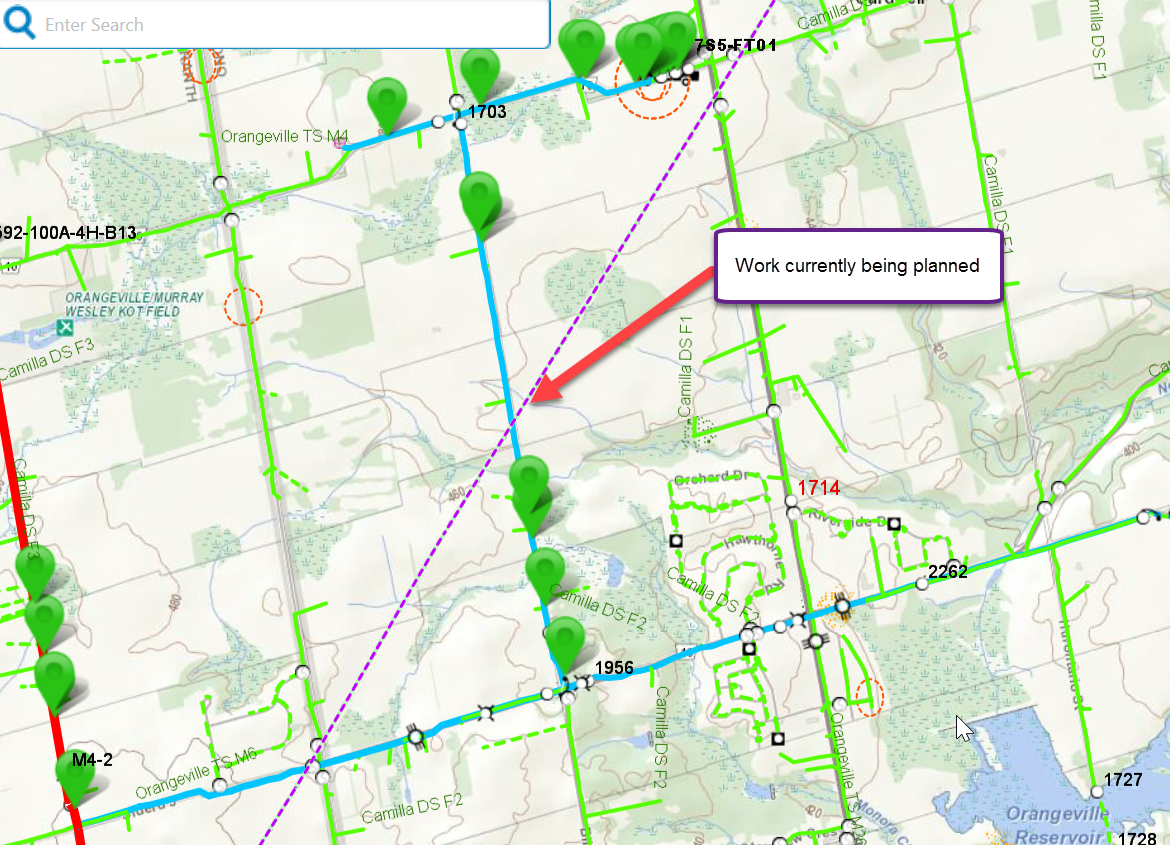 Map 4 showing Hydro One routine maintenance plan