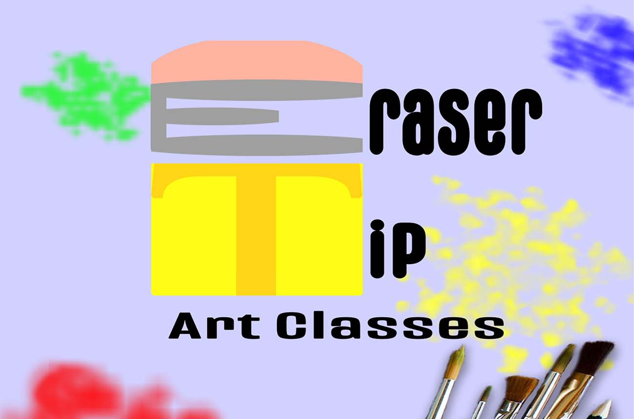 Eraser Tip Art Classes Graphic from Poster