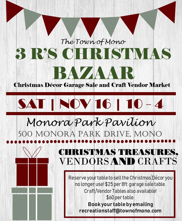 3 's Christmas Bazaar Poster