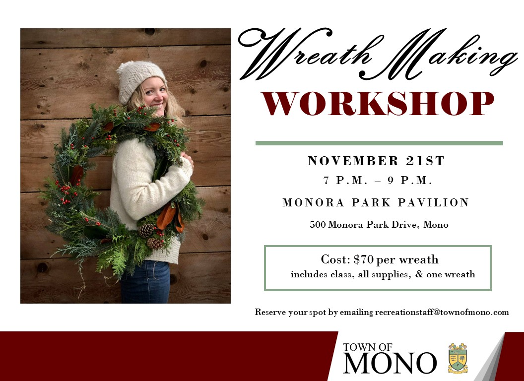Wreath Making Workshop Promotional Graphic