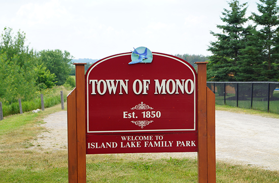 Island Lake Family Park Gateway Sign