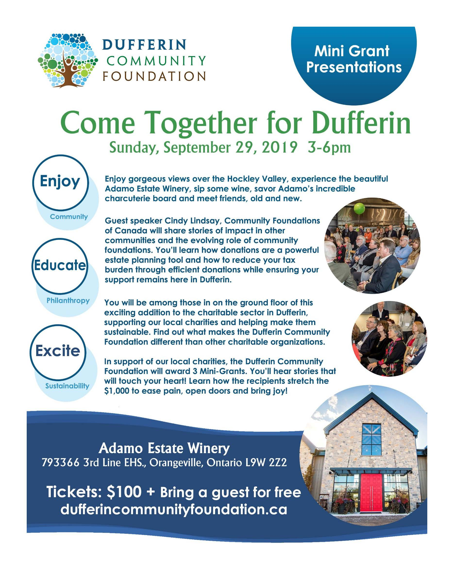 Come Together for Dufferin Poster