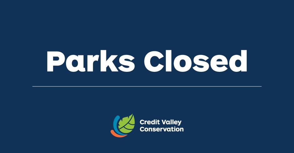 CVC Parks Closed Notice