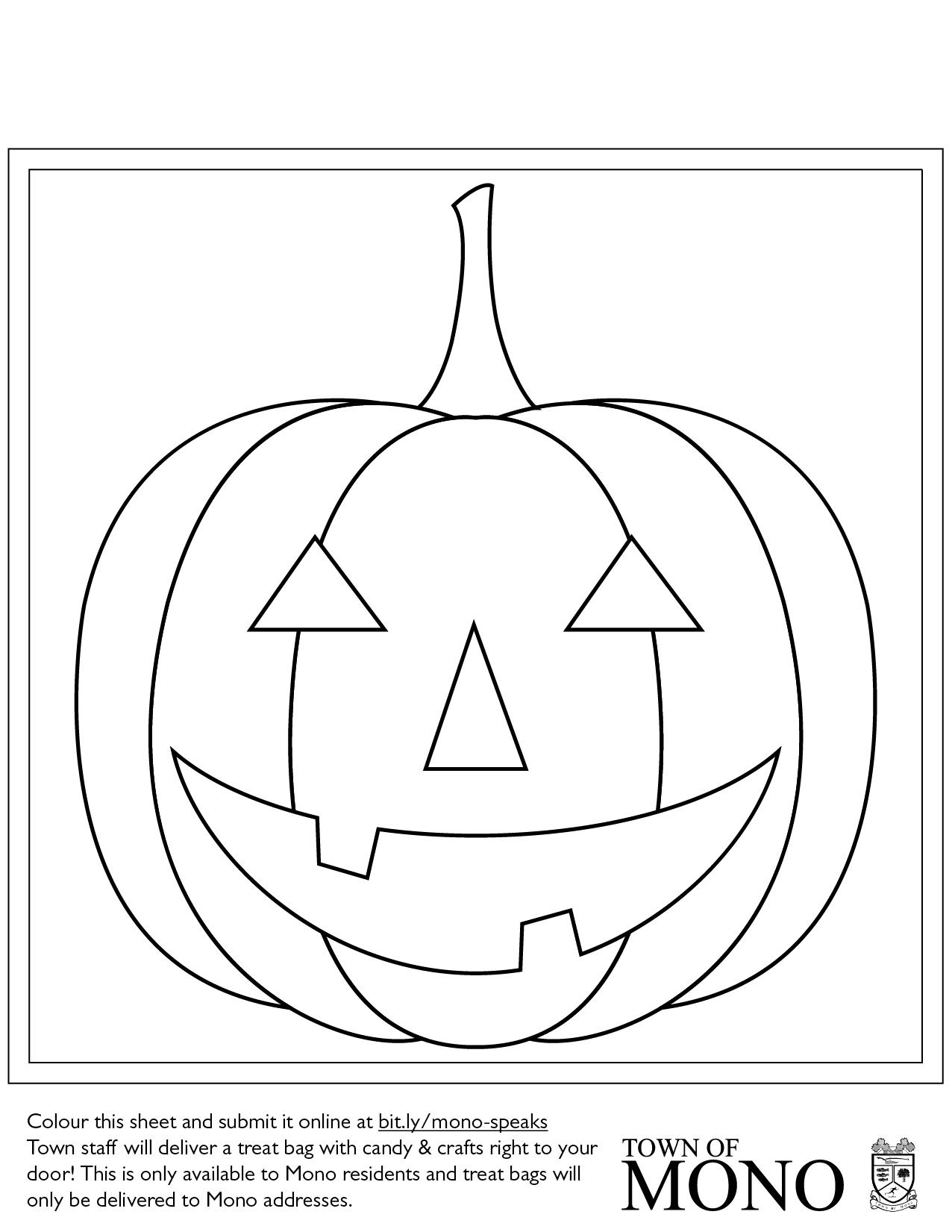 Colouring sheet: Jack-O-Lantern