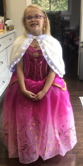 Child in Halloween costume: Princess