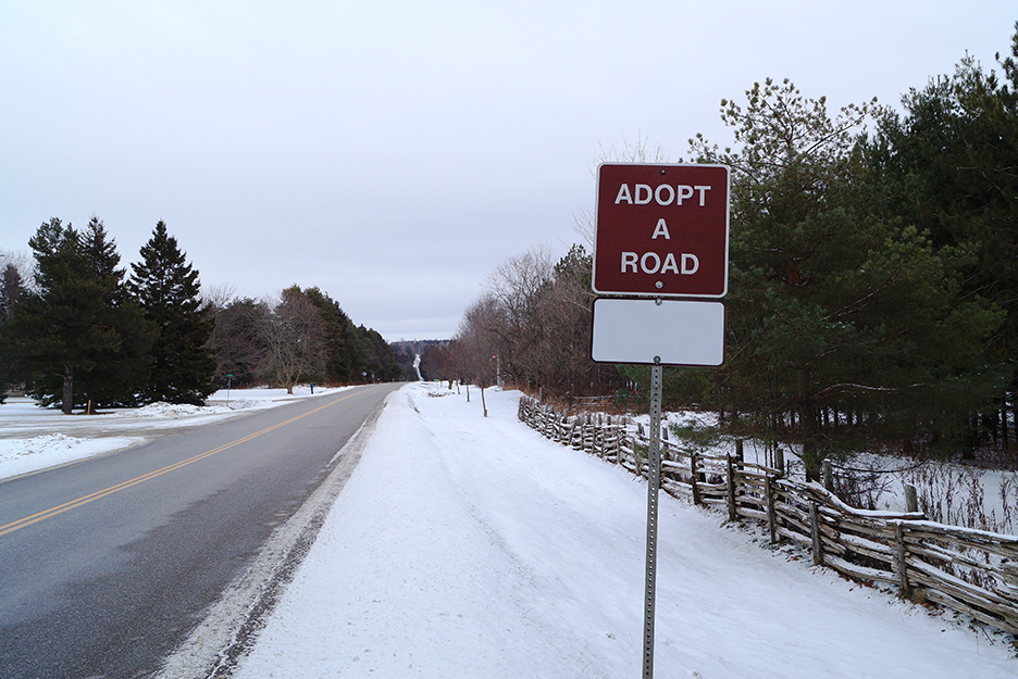 Adopt a Road Sign on Mono Centre Road