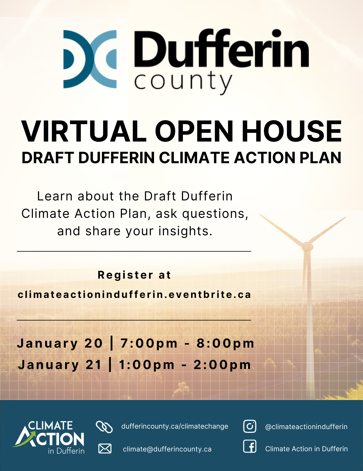 Climate Action Virtual Open House Promotional Graphic