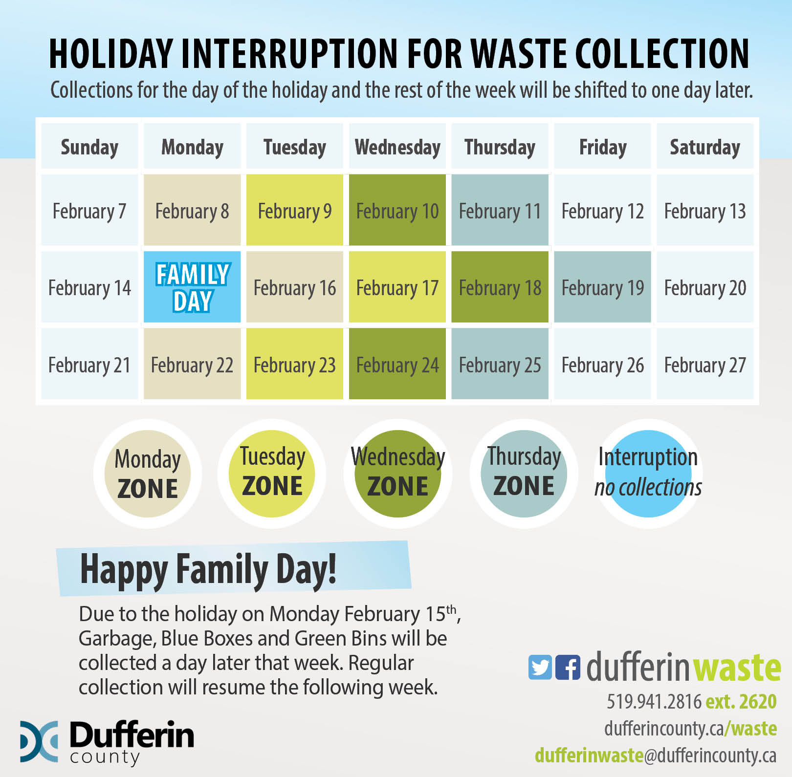 Holiday Interruption Promotional Calendar