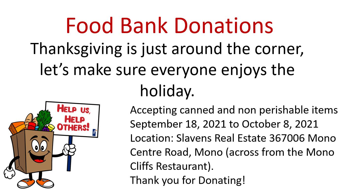 Food Bank Donation Flyer