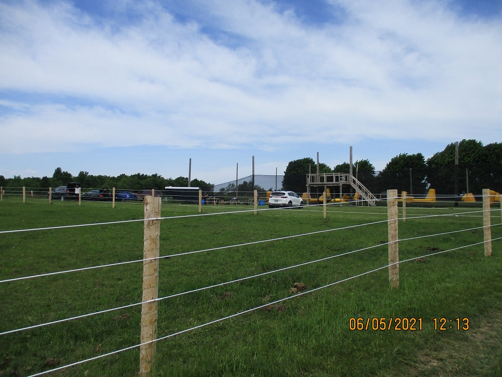 Paintball speedball field showing parking