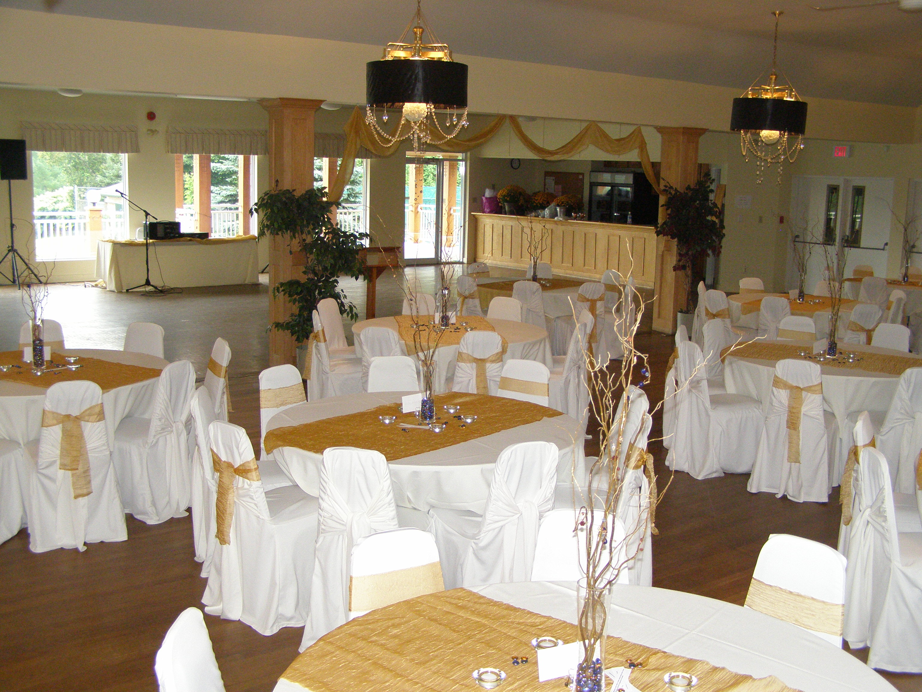 Mono Community Centre Banquet Room Decorated