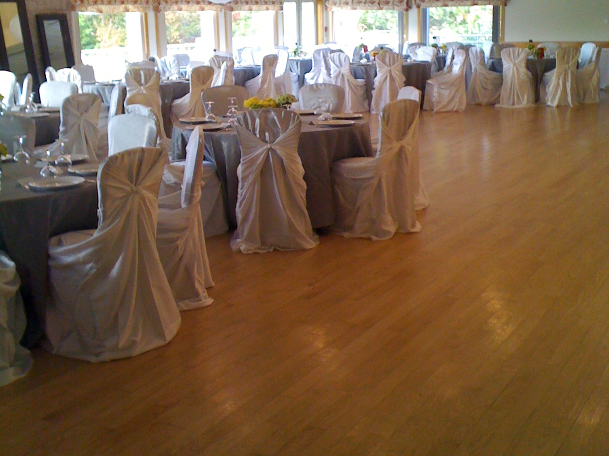Banquet Room showing tables and chairs